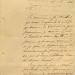 Carta del general Zachary Taylor