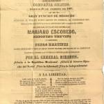 Documento 17 Impreso del Teatro. ¡Gloria á la República Mexicana! ¡Gloria al bizarro Ejér- cito del Norte!