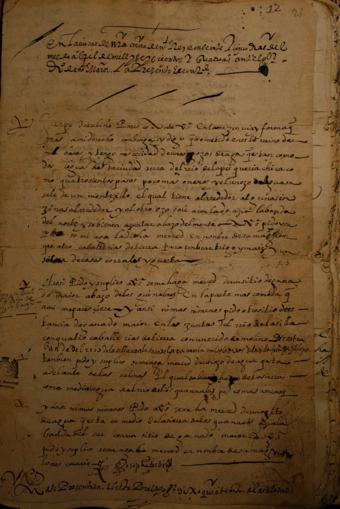 Merced a José de Treviño por Diego de Montemayor en 1604