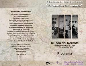 V SEMINARIO DE HISTORIA DEL NORESTE