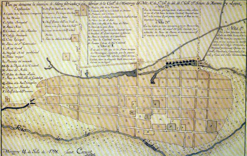 Plano de la ciudad de 1798