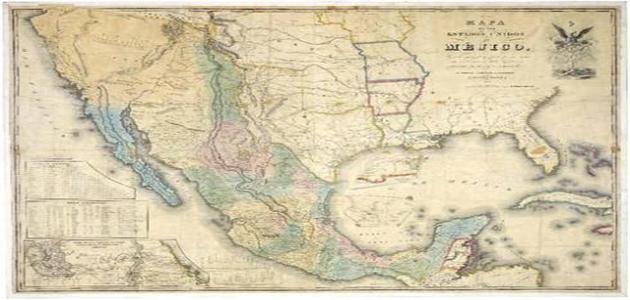 Mapa México-Estados Unidos