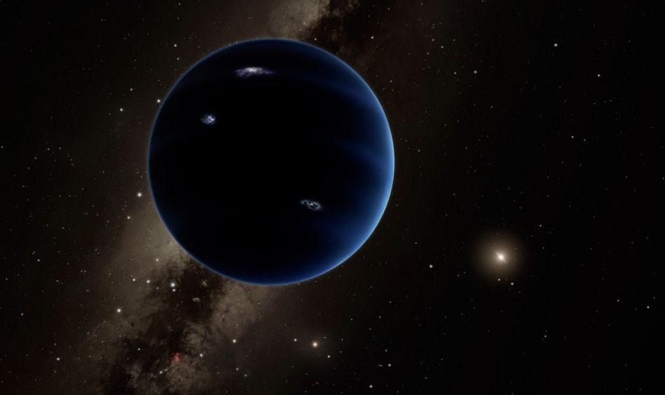 Planeta 9 Ilustración. Image Credit: Caltech/R. Hurt (IPAC)