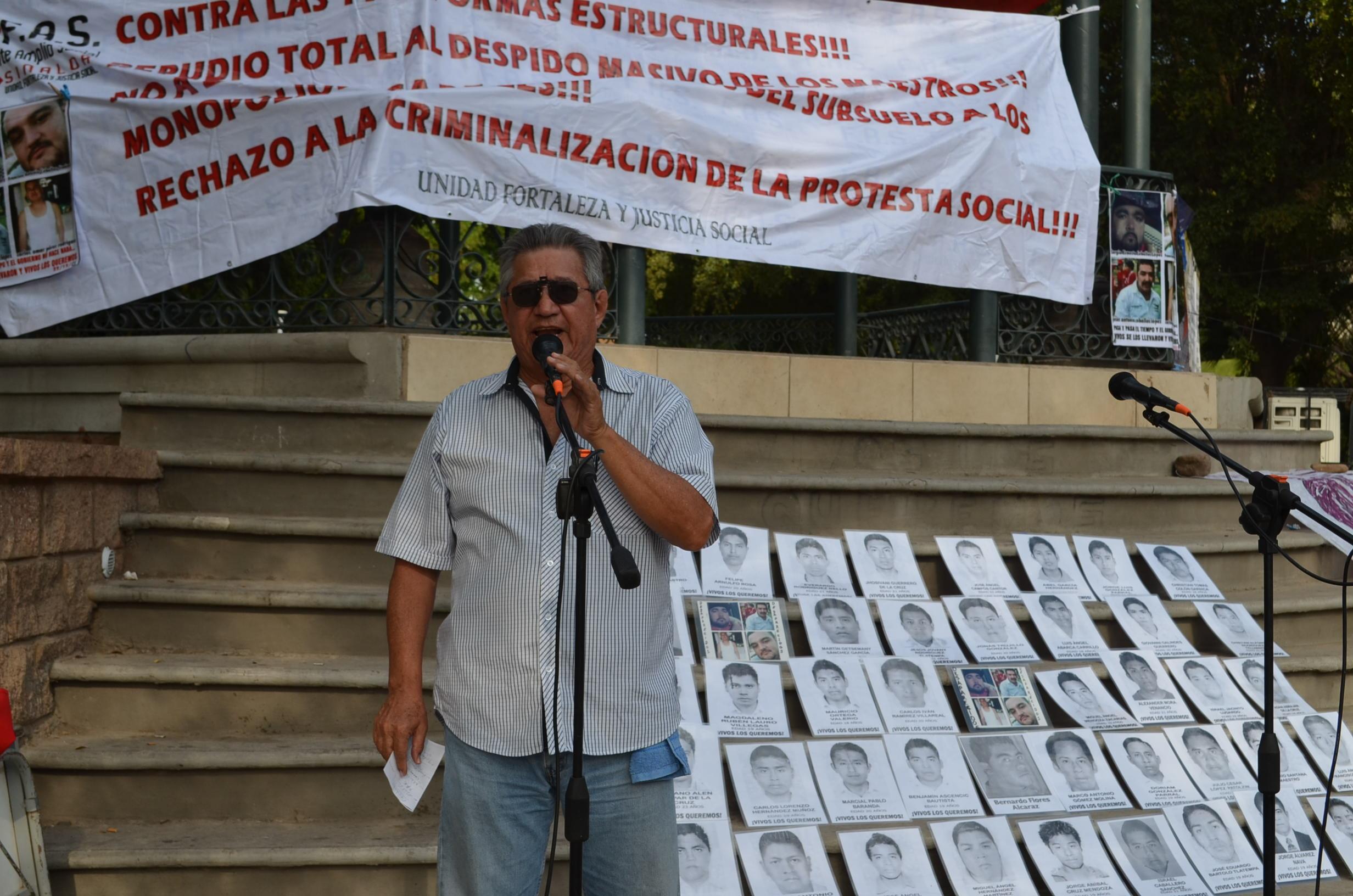 Miembro de la Comisión de Defensa de los Derechos Humanos de Sinaloa. Fotografía: Gabriela Sánchez