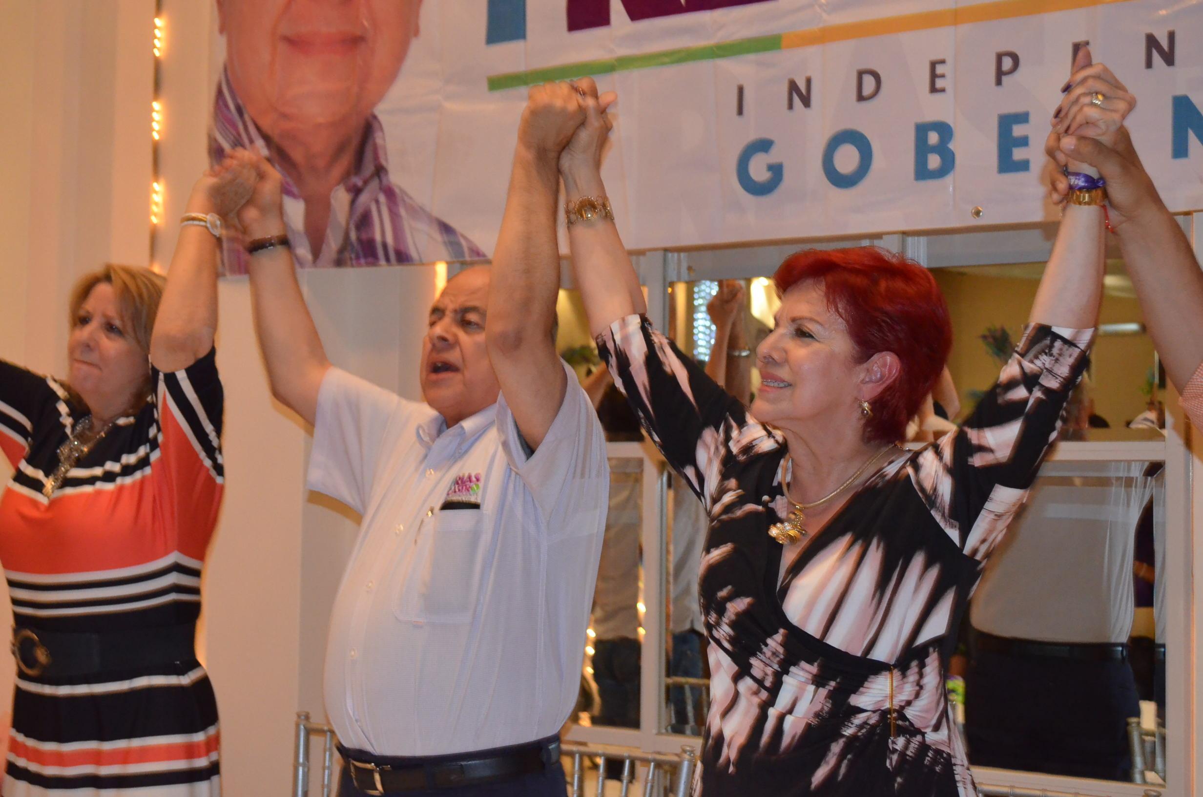 Dr. Francisco Frías Castro, durante cierre de campaña. Fotografía; Gabriela Sánchez