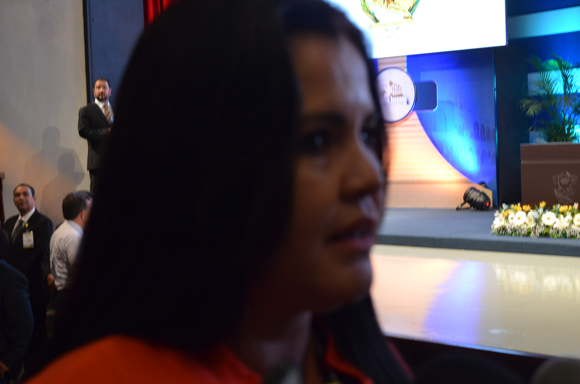 Alcaldesa de Salvador Alvarado, durante tercer informe de la UAS. Fotografía: Gabriela Sánchez