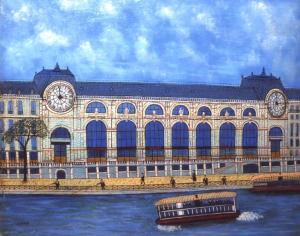 Louis Vivin- La quai d'Orsay et la Seine