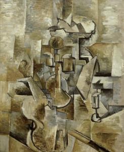 Georges Braque- Violín y Candelero