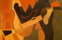 Juan Gris- Arlequín sentado a la guitarra