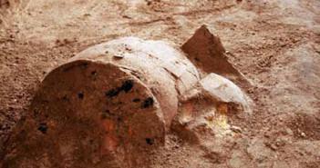 Retícula colocada en el lugar donde se registraron los primeros hallazgos