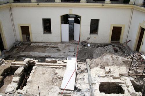 Arqueología Regia. Vista del Patio.