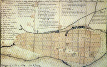 Plano de la ciudad de Monterrey 1798