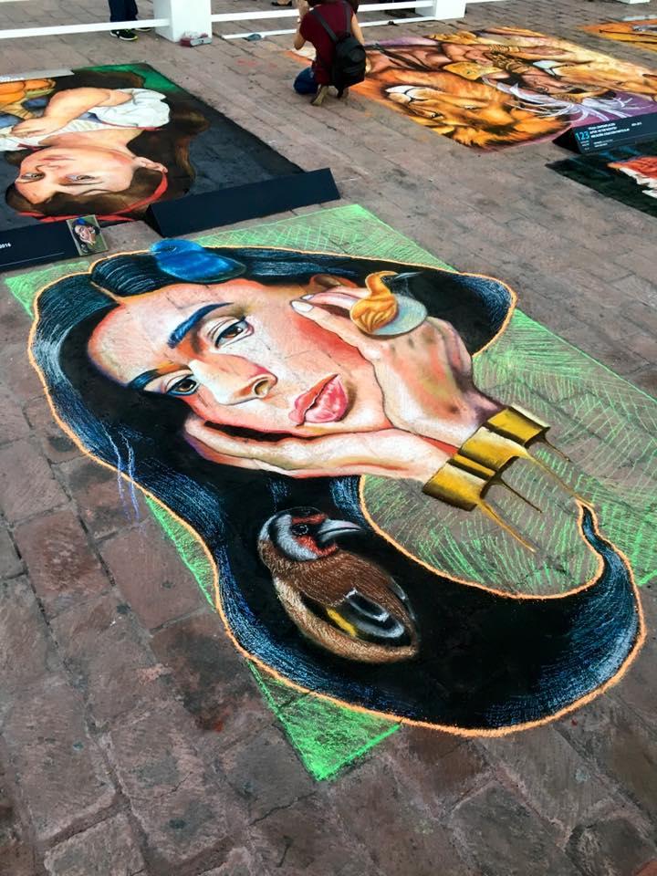 Obra de Tadeo Mendoza en el Festival Bella Via 2016. / FOTO: Especial