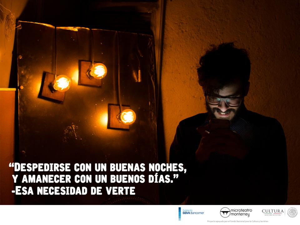Obra de teatro 'Esa Necesidad de Verte' / FOTO: Cortesía Microteatro